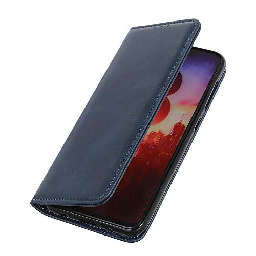 HAOYE Hülle für HTC Desire 19+ Brieftasche, mit [Geld- & Kartenfächern] [Kickstand] [Magnetische Funktion] Folio Handyhülle, PU Leder Schutzhülle, HTC Desire 19+ Flip Hülle, Blau