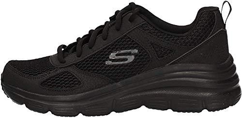 Skechers Fashion Fit - Perfect Mate - Zapatillas de deporte para mujer, Negro (Negro), 37 EU