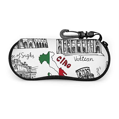 Estuche para gafas Italia Famoso punto de referencia Gafas de sol suaves Estuche para anteojos Estuche para hombres Mujeres Viajes