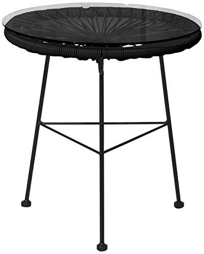 EUROSILLA Acapulco Tisch für Garten, Schwarz, 45x 45x 45cm