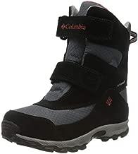 Columbia Youth Parkers Peak Velcro Waterproof Winter Boot Snow, graphite, bright red, 6 US Unisex Big Kid
