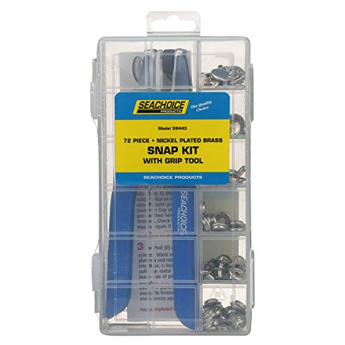 Seachoice 59443 72 Piece Snap Kit/Tool, Boat Canvas Fasteners, for Boat Covers and Canvas Covers, One Size