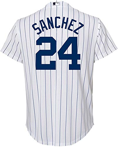 Gary Sanchez New York Yankees White Kids Cool Base Home Jersey (5/6)