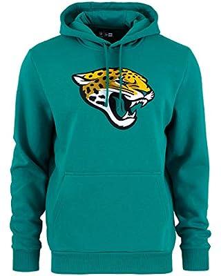 Felpa cappuccio tigre new era - nfl jacksonville jaguars team logo hoodie - blu-verde colorazione verde blu B07P6P99GD