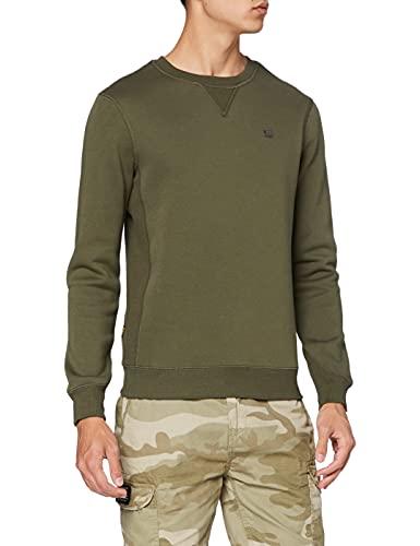 G-STAR RAW Heren sweatshirt Premium Core, Groen (Combat C235-723), XL
