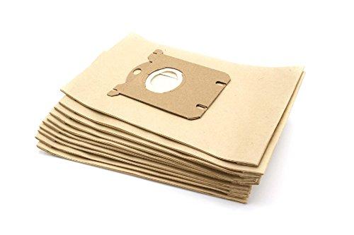vhbw 10x Sacs compatible avec Philips New York - City Line, Oslo - City Line, Paris - City Line aspirateur - papier, marron