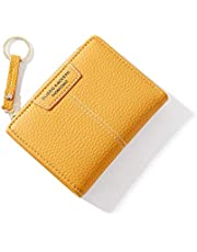 GLITZFAS dam plånbok, PU-läder portmonnä multi slot liten plånbok korthållare plånbok för kvinnor