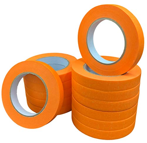 A to Z Automotive Refinish Masking Tape (12 Rolls) - 18 mm x 55 m - High Performance Professional Tape