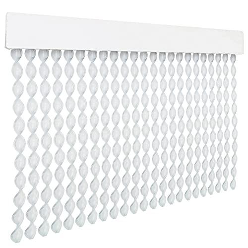 HOME MERCURY – Cortina espiral para puerta exterior o interior, material PVC – libre de insectos (200x90CM, Transparente R9)