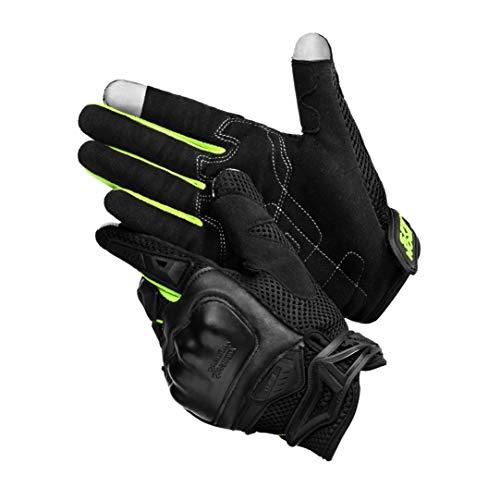 IRON JIA'S Guantes de Moto, Pantalla Táctil | Respirable | Guantes de Verano para Scooter para Carreras de Motos, Vehículos Todo Terreno, Escalada, Caza, Motocross y Aire Libre - Verde, XL