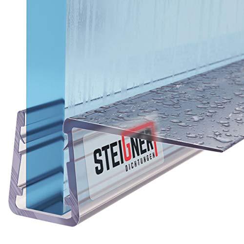 STEIGNER Duschdichtung, 190cm, Glasstärke 6/7/ 8 mm, Gerade PVC Ersatzdichtung für Dusche, UK11