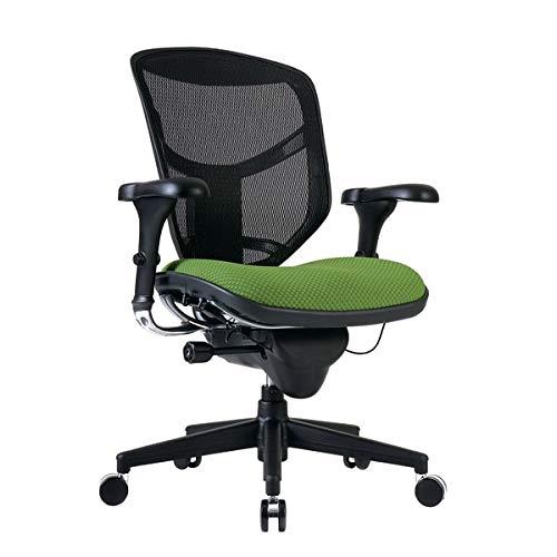 WorkPro Quantum 9000 Series Ergonomic Mesh/Premium Fabric Mid-Back Chair, Black/Lime
