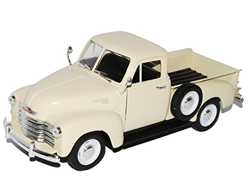 Welly Chevrolet Chevy 3100 Pickup Creme Weiss 1953 1/24 Modell Auto