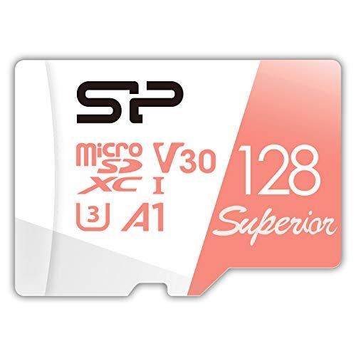 シリコンパワー microSD カード 128GB class10 UHS-1 U3 対応 4K 録画 3D Nand SP128GBSTXDV3V20SP