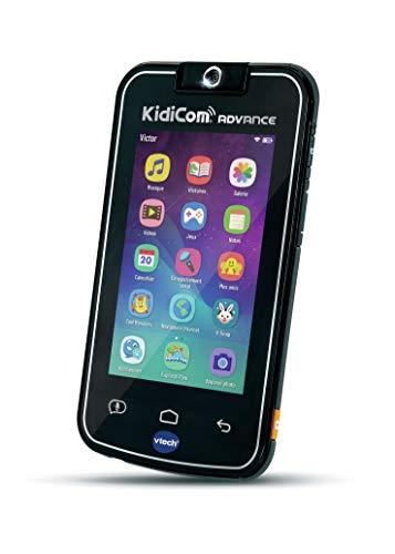 VTech - KidiCom Advance Noir, le portable enfant sans forfait - Version FR