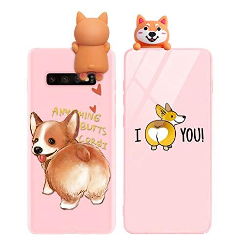 Yoedge Funda para Samsung Galaxy A5 2017, Silicona Cárcasa 3D Animal Muñecas Toy con Dibujos Antigolpes de Diseño Suave TPU Ultrafina Case Cover Fundas Movil para Samsung A5 2017 5,2, Perro 3