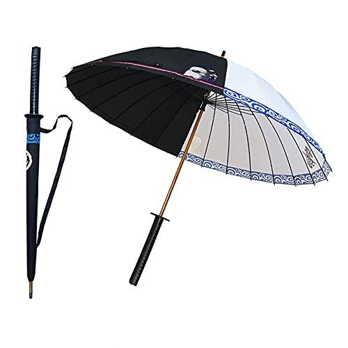 LSQJNDM pour Gintama Umbrella Animation Peripheral Creative Straight Umbrella, Parapluie Long en Bois, Parapluie imprimé, Parasol/Parapluie pour Dames