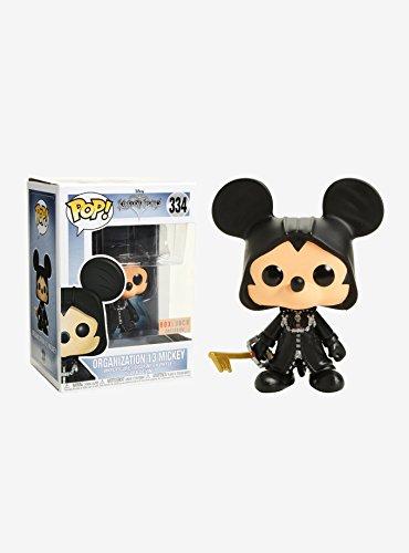 Funko–Disney - Colección Kingdom Hearts, Figura 334- Mickey Organización 13 con Brillo - Figura Coleccionable