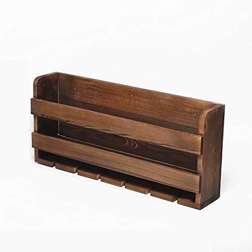 NACEO massief hout beker plank muur gemonteerd omgekeerde wijn glas houder retro huis woonkamer wijnplank beker rekje (2 stuks te koop)