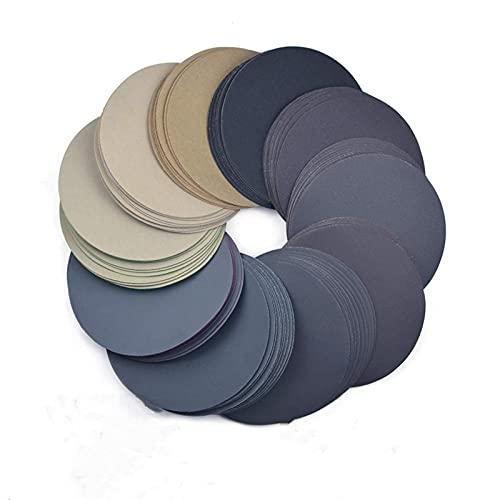 6-Zoll-Schleifscheiben 150 mm wasserdichter Schleifpapierhaken & amp;Schleife Sandpapier Körnung 320-10000 Sortiert für Nass- / Trockenpolieren 50 Stück, wie abgebildet