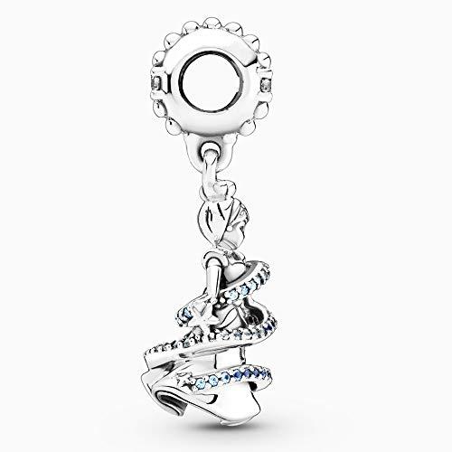 BAKCCI Colgante de plata 925 con diseño de Cenicienta, de invierno de 2020, ideal para pulseras originales de Pandora