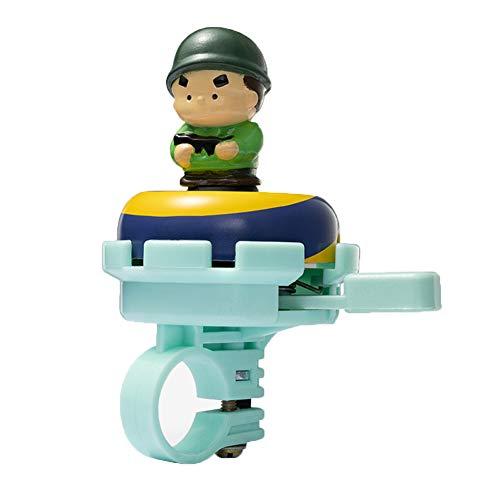 Feluz Timbre de bicicleta para niños, ajustable, con diseño de dibujos animados, para niñas, niños y adultos, timbre de bicicleta con sonido claro para niños, accesorios de bicicleta para niño