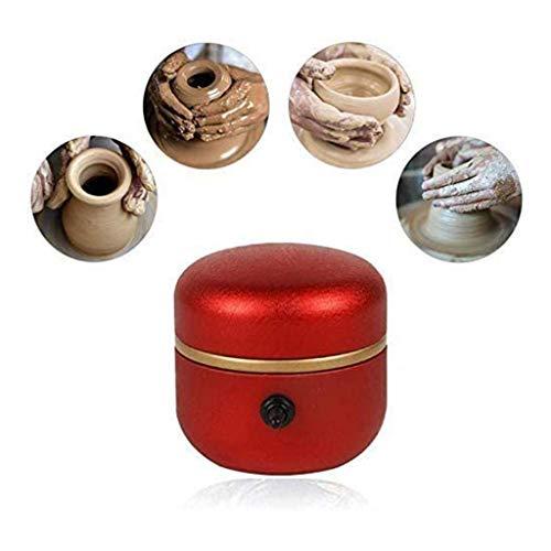 MISS YOU Mini Potter-Radmaschine, 1500 U/min elektrische Plattenspieler Fingerspitzen DIY Clay Tool mit Tablett für Erwachsene Kinder Keramikkunst