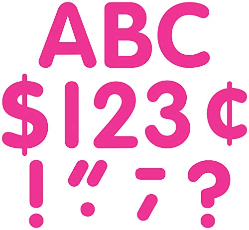 Teacher Created Resources Hot Pink Classic Font 4-Inch Letters Uppercase Pack (5386)