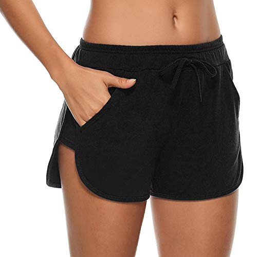 Aibrou Donne Pantaloni Corti Estivi Pantaloncini Sport Elastici per Yoga Short Sportivi Donna