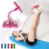 Yoga-Gurt für Stretching-Fitness-Bänder, 4 Röhren, Naturlatex, Fußpedal, elastische Bänder für Übungen, Seil mit Griff, Fitness-Ausrüstung, um fit zu halten und Gewicht zu verlieren, C