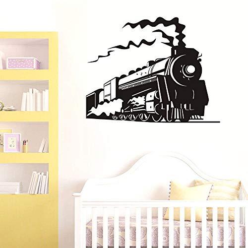hetingyue Trein Comics, personaliseerbaar, kleur, muurtattoo, voor kinderkamer, slaapkamer, wandsticker, decoratie van het huis