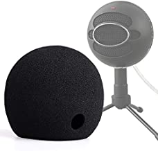 ChromLives Foam Cover for Blue Snowball Microphone Windscreen Foam Cover for Snowball Wind Cover Compatible with Blue Snowball Ice Microphone (Black)