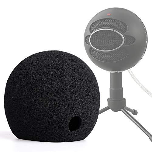 ChromLives Foam Cover for Blue Snowball Microphone Windscreen Foam Cover for Snowball Wind Cover Compatible with Blue Snowball Ice Microphone (Black)
