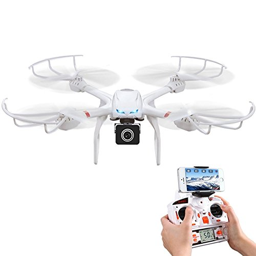 Babrit Uplay FPV Wifi RC Quadcopter Remote Control Drone with HD 720P Camera One Key Return Function Headless Mode