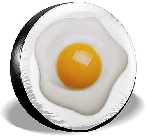 MODORSAN Funda para llanta de Repuesto de Huevo Frito,poliéster,Universal,de 16 Pulgadas,para Rueda de Repuesto,para Remolque,RV,SUV,Rueda de camión,camión,Camper,Accesorios de Remolque de Viaje