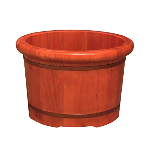 Foot Tub, Solid Wood Foot Tub, Foot Tub, Pedicure Basin, Foot Massage Basin, with Massage Function, Home, Hotel, 41 * 26 * 31cm (No Cover),Foot Massagers