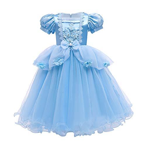 IMEKIS Disfraz de Cenicienta Sofa para nias, disfraz de princesa de cumpleaos, con volantes, tut de tul con accesorios de hadas, disfraz de fiesta para Halloween, Navidad, carnaval de 3 a 12 aos