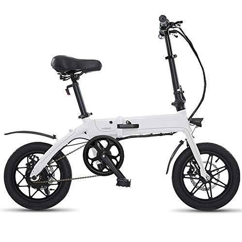 Dpliu-HW Bicicleta Eléctrica Tipo Plegable Conducción Bicicleta eléctrica Hombres y Mujeres Scooter...
