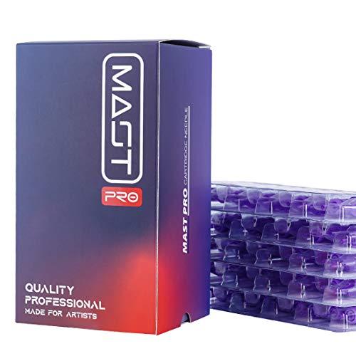 Mast Tattoo Pro Cartridges Needles with Membrane Mixed Sizes Box of 50 Pcs (RL+RS+RM+M1)