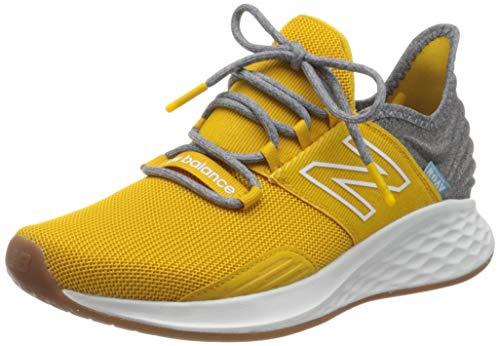 New Balance Men's Fresh Foam Roav V1 Running Shoe Sneaker, Varsity Gold/Light Alluminum, 15 W US