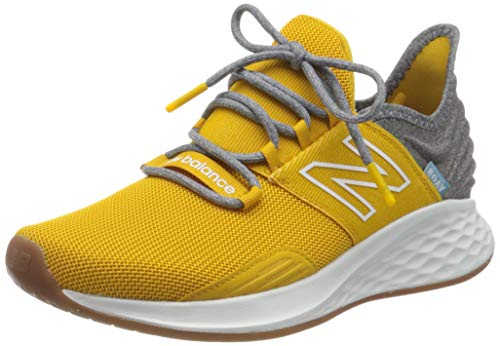 New Balance Men's Fresh Foam Roav V1 Sneaker, Varsity Gold/Light Alluminum, 15 M US