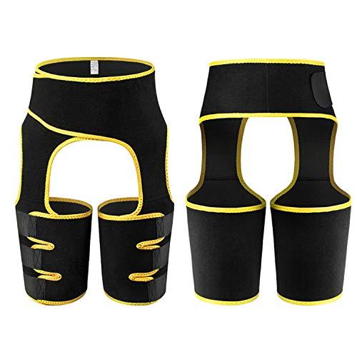 LIZIHAO Sauna Trainer de Cintura Alta para Mujer, 3 en 1 Trimmer de Sudor Trimmer Tortor Levantador Cuerpo de compresión Shaper (Color : Yellow, Size : XXX-Large)