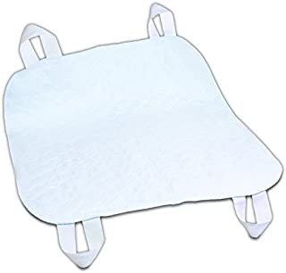 Essential Medical Supply Quik-Sorb Brushed Polyester Underpad with Positioning Straps, 34 inch X 35 inch, 3 Count