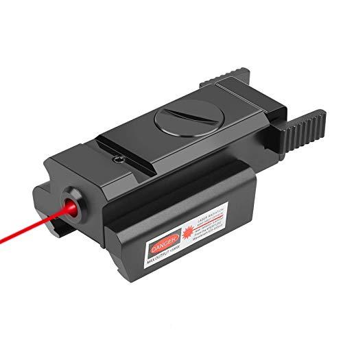 LQG Vista táctica compacta de Haz Rojo con Punto Rojo, Vista de Pistola de Punto Rojo con láser Picatinny, Montaje en riel de tejedor estándar de 20 mm, para Caza al Aire Libre