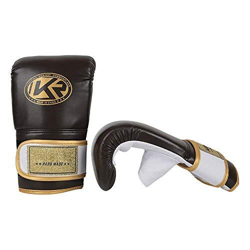 Leilims Boxhandschuhe Training Bar Greifer Boxen MMA Muay Thai Fingerlose Handschuhe Handschutz for Kickboxen Sparring (Farbe: Braun, Größe: Eine Größe) boxhandschuhe kinder