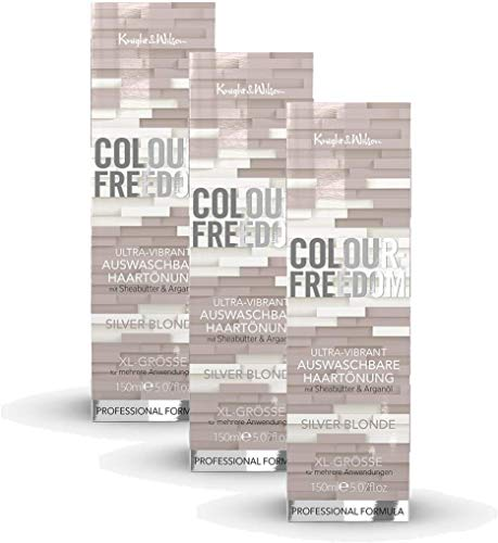 Colour-Freedom Ultra-Vibrant Silver Blonde XL 150 ml 3er Sparpack 2+1 auswaschbare Haartönung | 3x 150ml