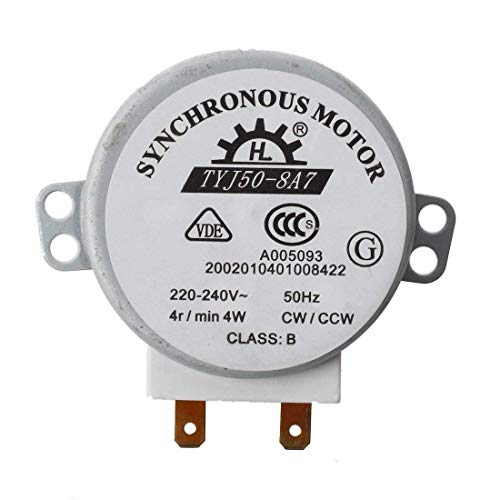 NiceButy Micro Turntable Motore CW/CCW Mini Piattaforma Girevole della Tabella di girata Motore sincrono per Forno a microonde Durevole e Pratico