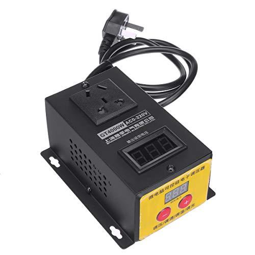 QWERTOUY AC 220V 4000W SCR elektronischer Spannungs-Regler Temperatur Motor Drehzahlregler Dimmer Elektrowerkzeug Einstellbare
