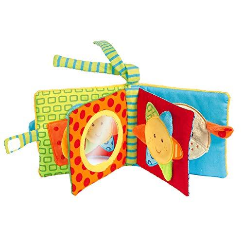 Solini Stoffbuch / Baby Spielzeug / Training Feinmotorik Tasten / Beschäftigung unterwegs / bunt