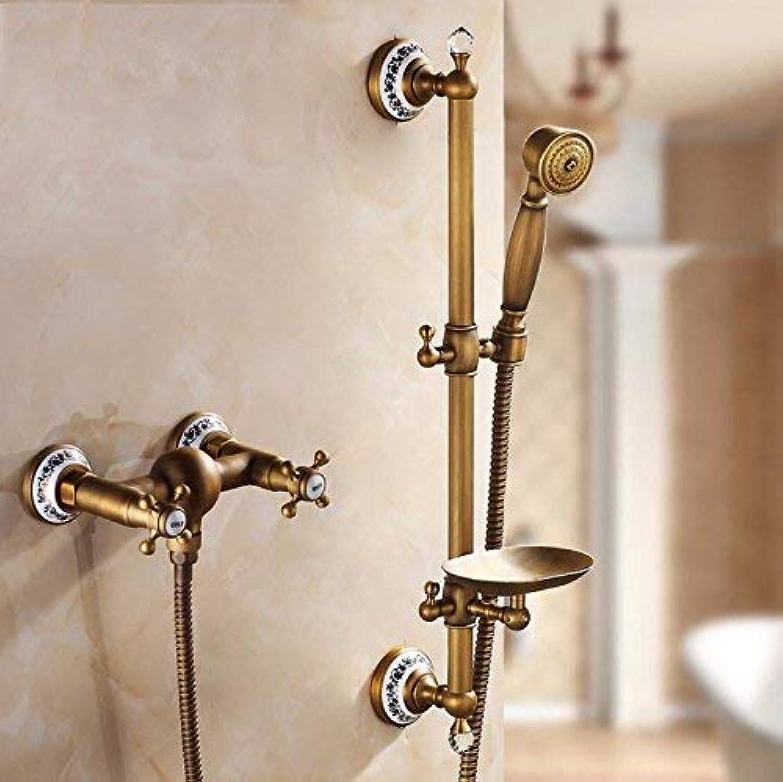 GFF Dusche dusche Kupfer dusche duschset badewanne Kopf europischen hei kalt einfache dusche handbrause dusche mischbatterie